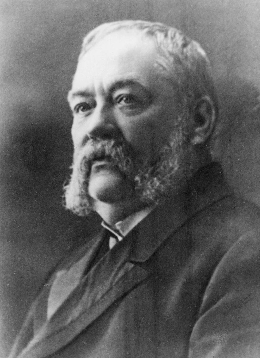 portrett, postmester, Erik Lund