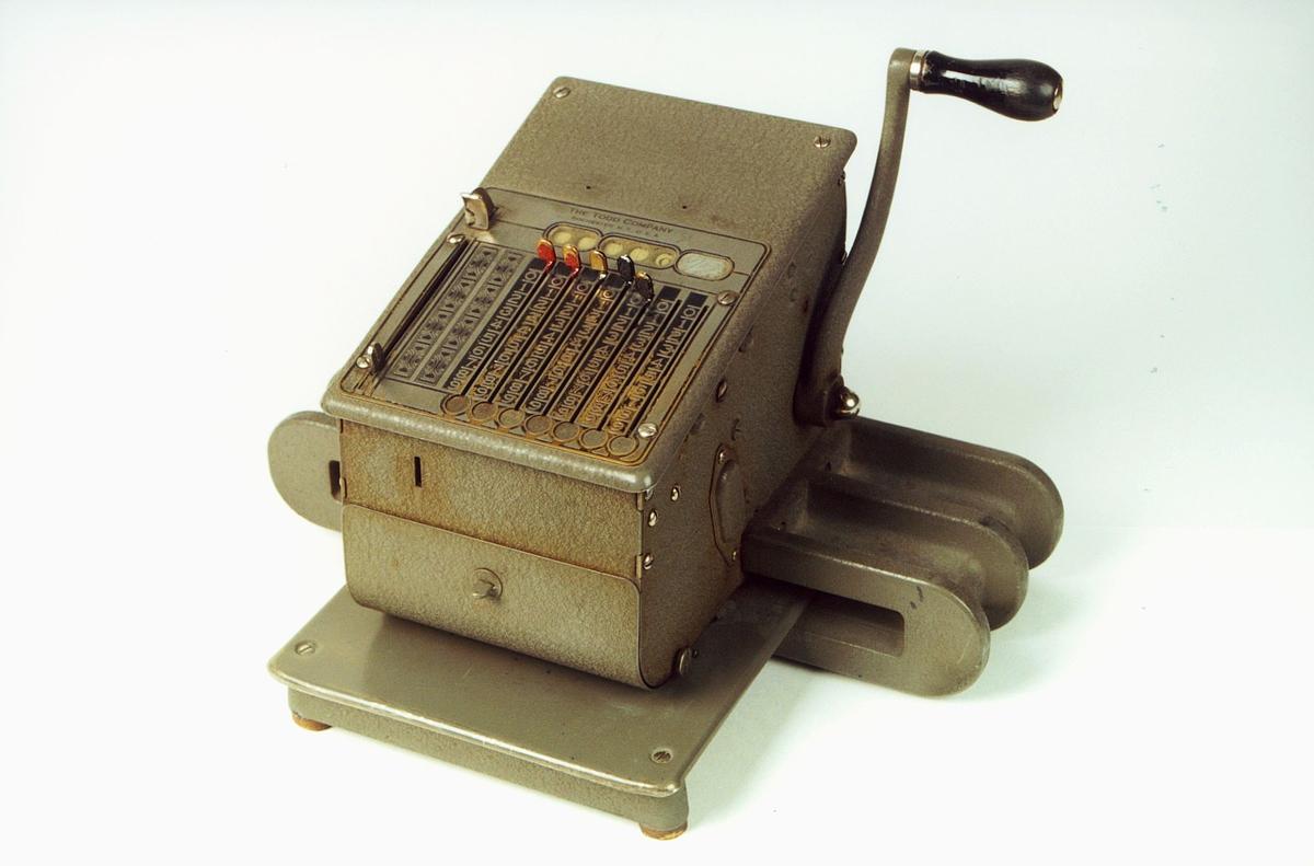 Postmuseet, gjenstander, sikringsmaskin, Todd 245 NR6213.