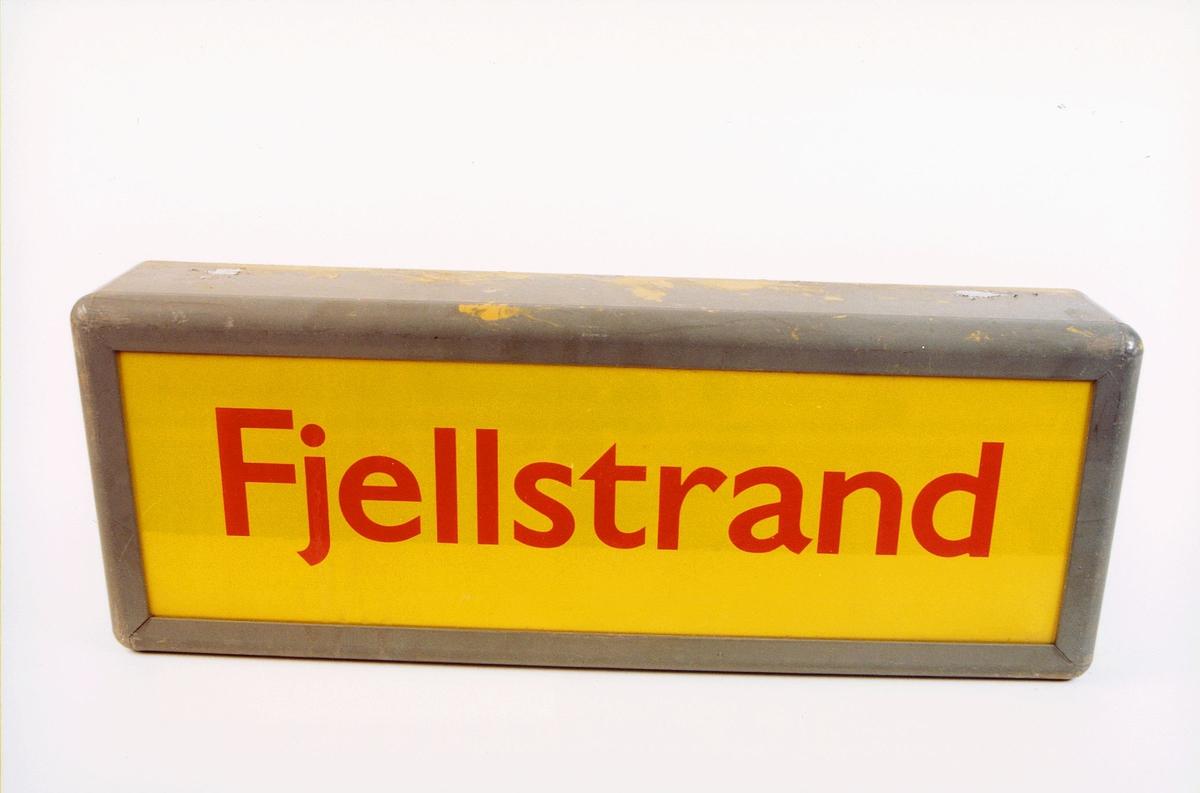 postmuseet, gjenstander, skilt, stedskilt, stedsnavn, Fjellstrand