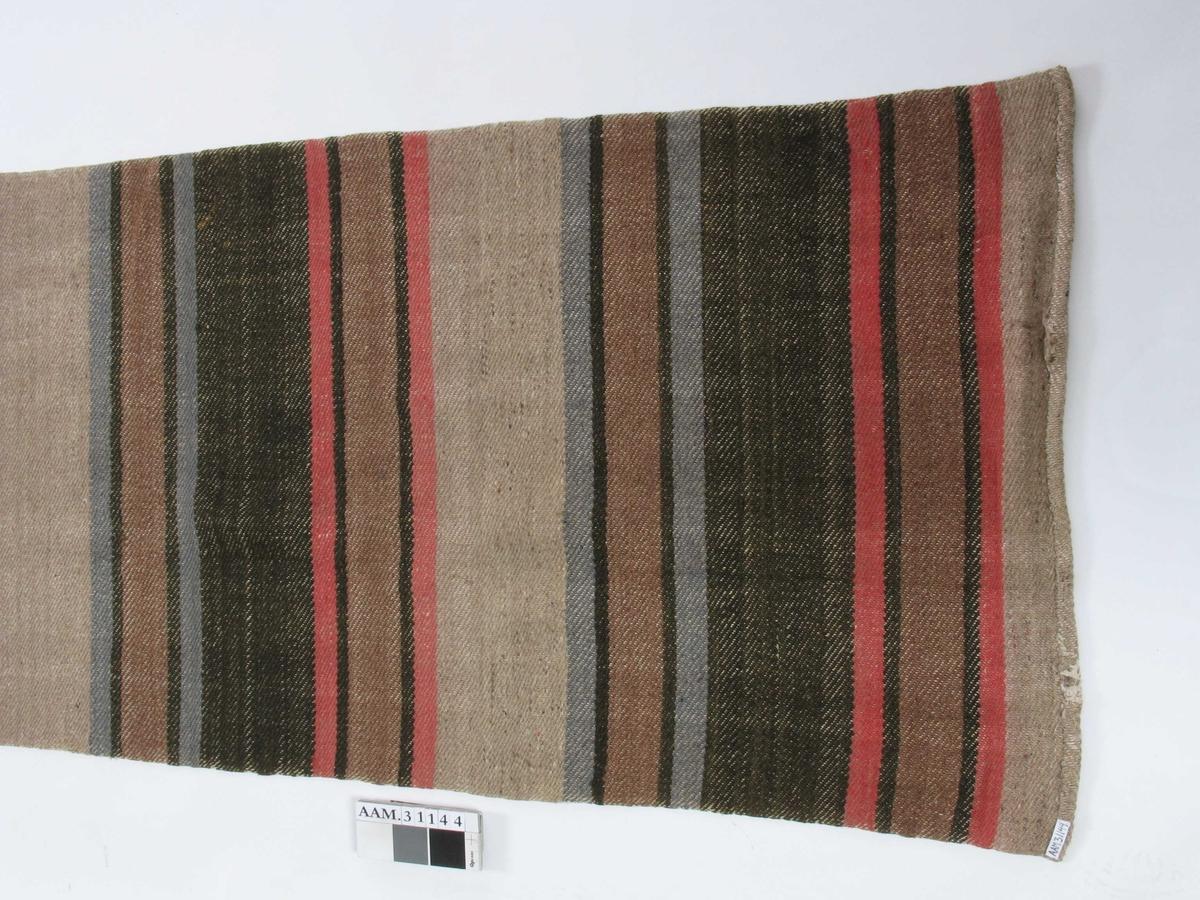 Lang, smal gulvmatte med tversgående striper