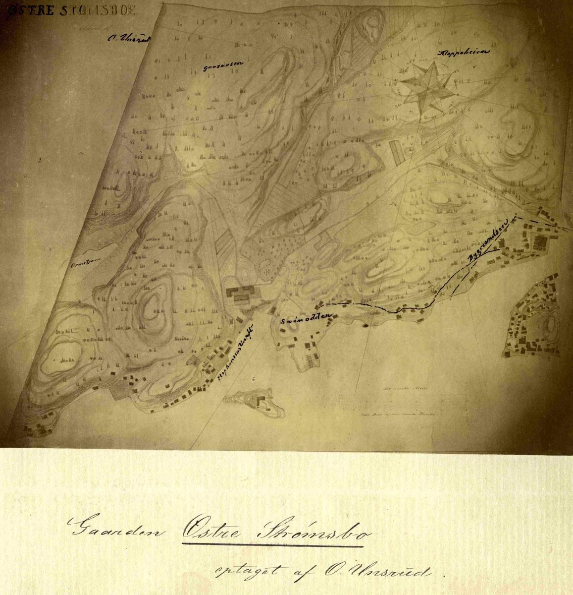 Kart over Østre Strømsbu