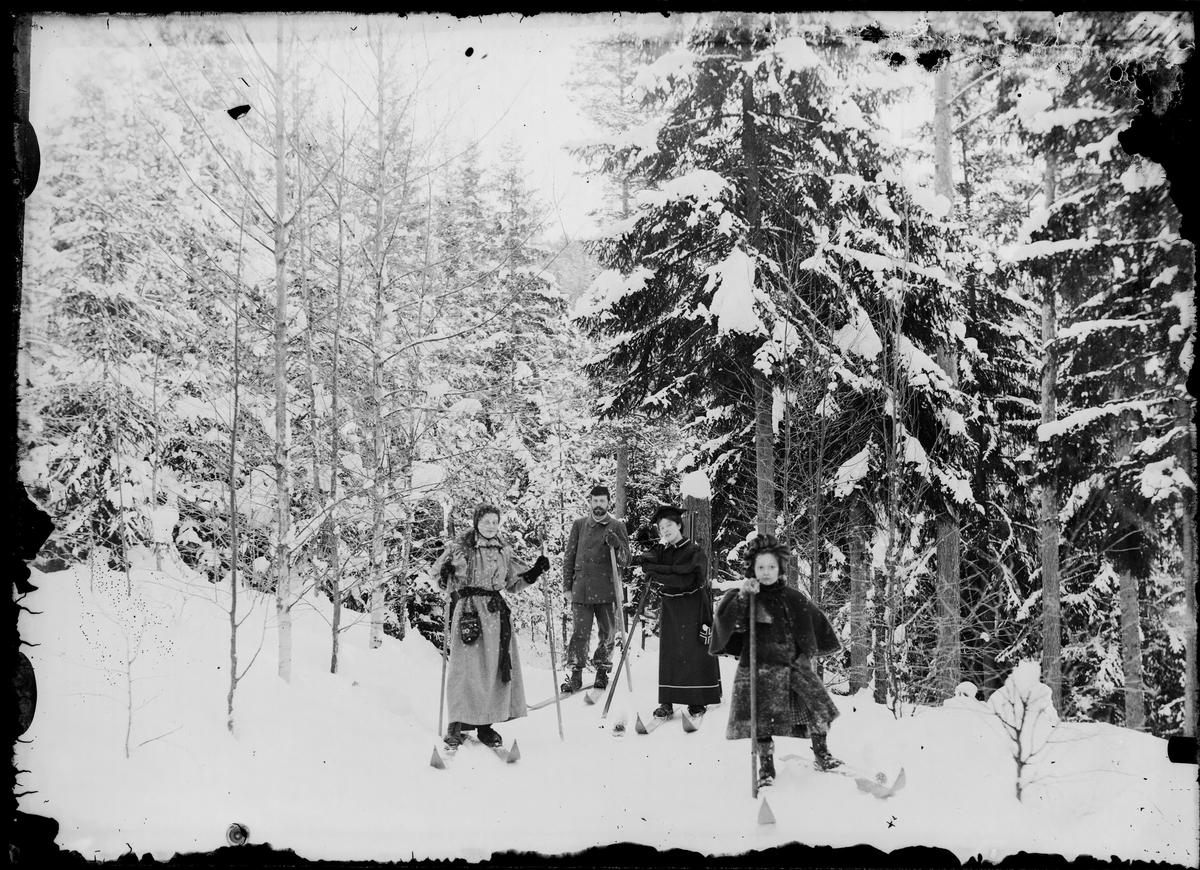 Fridtjof Grann- Meyer med fler på ski.