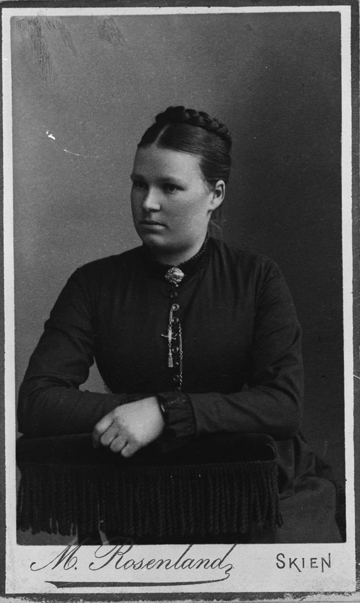 Brystbilde av Janna Sennerud, f. Hammer. (1864- 1932)
