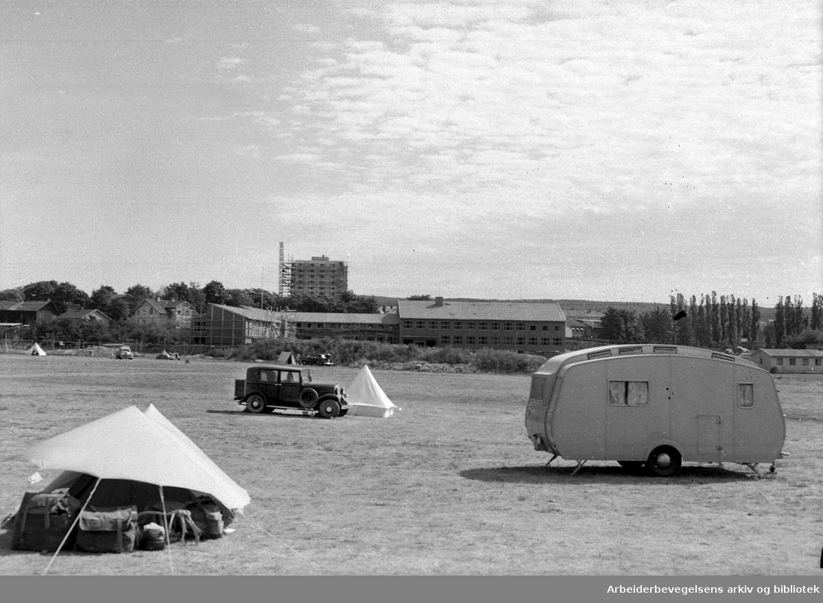 Helsfyr camping,.august 1955