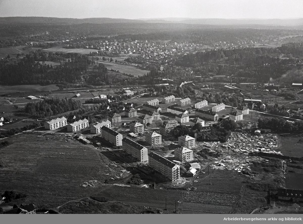Flyfoto over Teisen,.oktober 1951