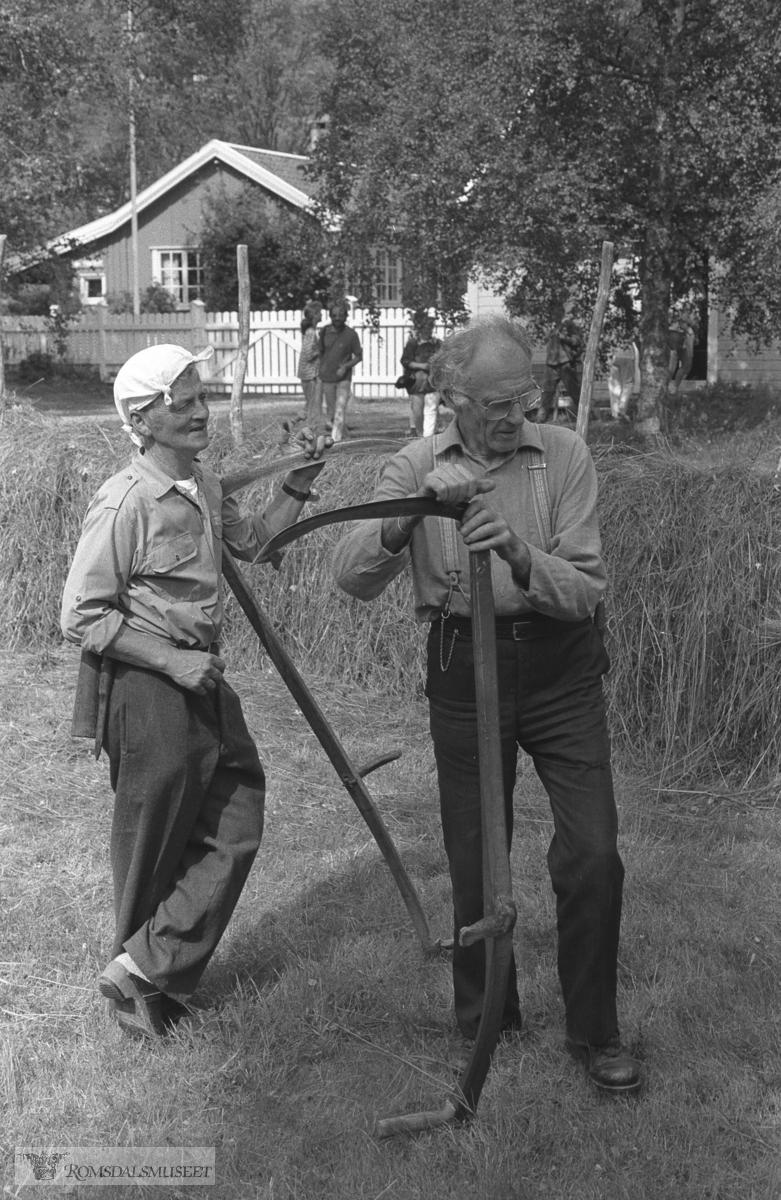 Slåttonn på Romsdalsmuseet.
