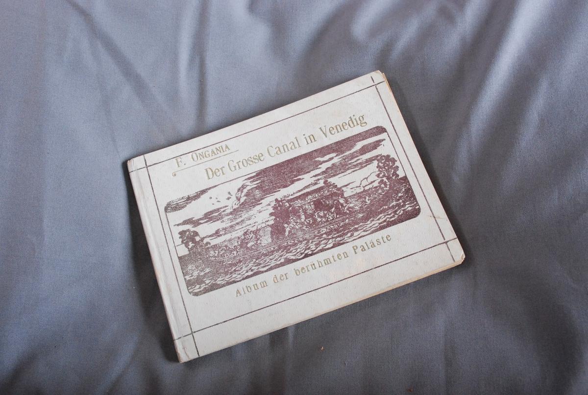 """Innskrift på tittelblad: """"Venezia 1ste januar 1909"""""""