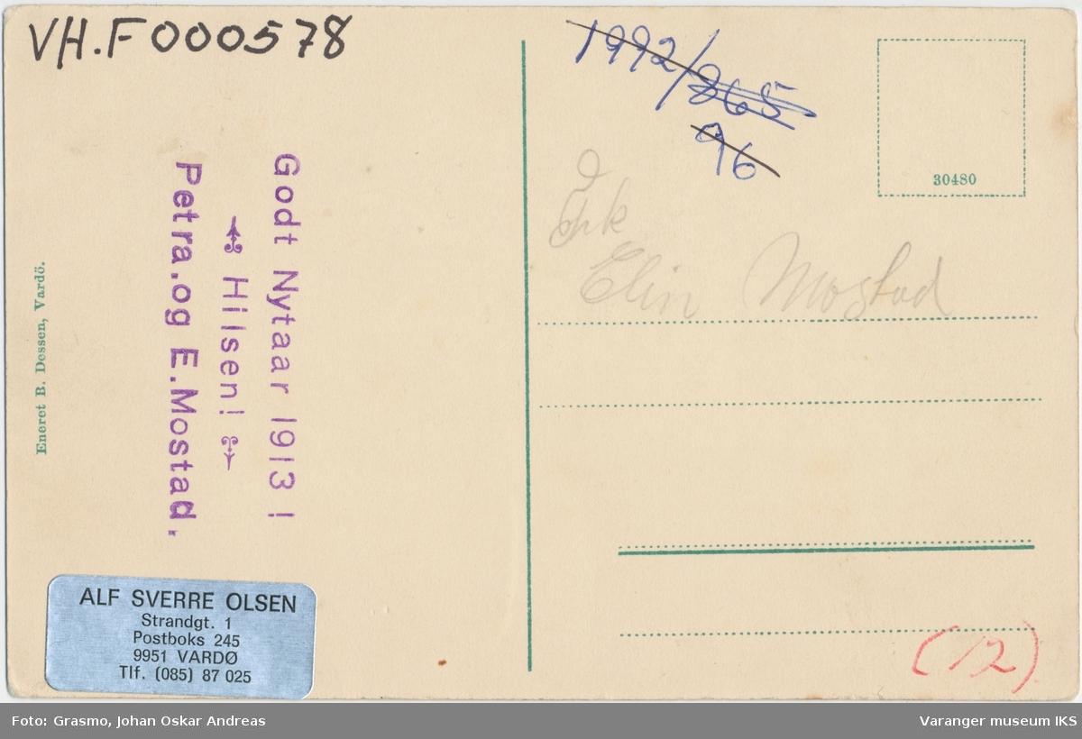 Postkort, Nordre Våg sett fra kirketårnet, før 1913