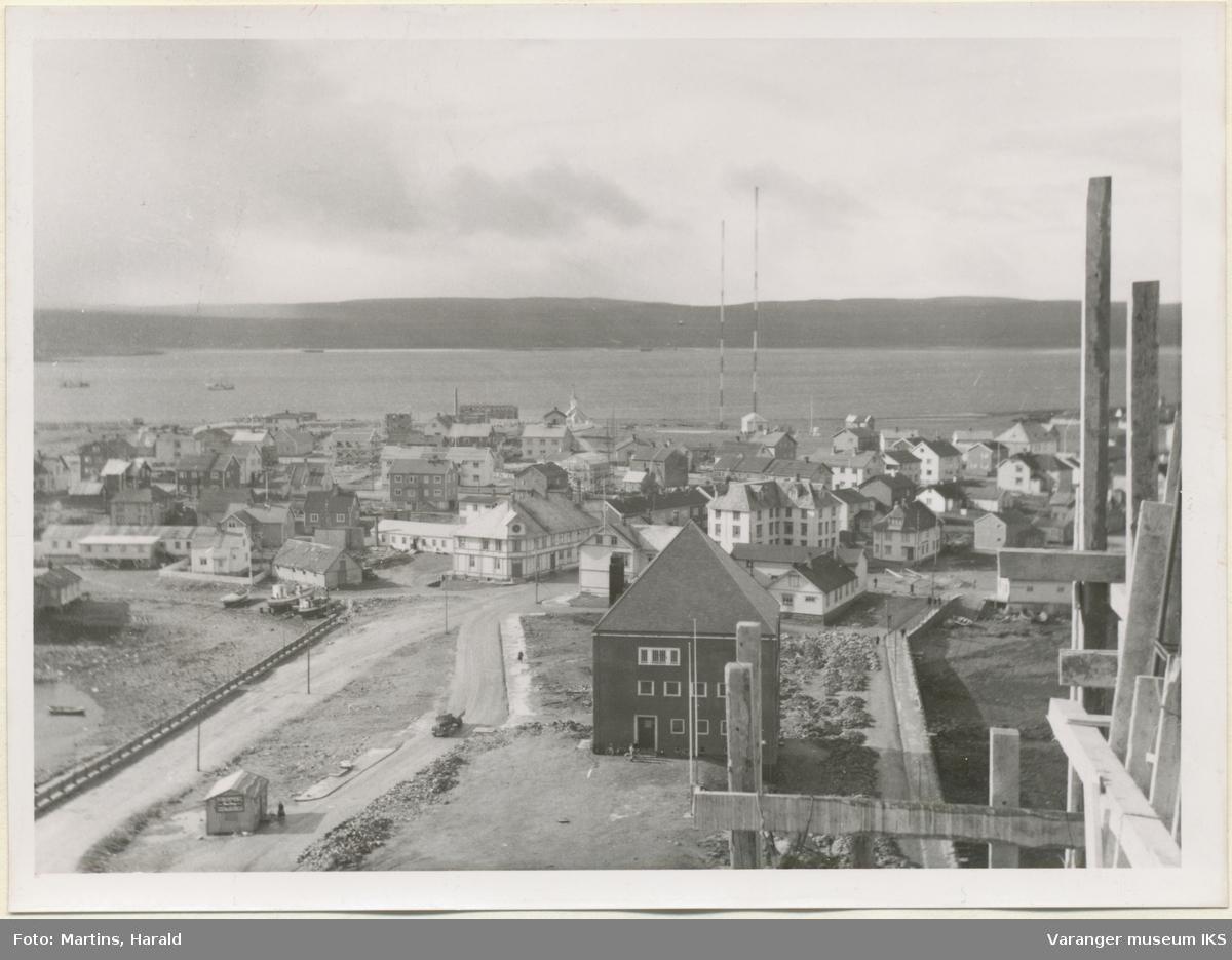 Valen og Steilneset, sett fra kirketårnet, 6. september 1956