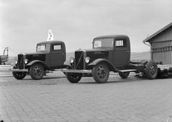 Aavatsmark. Volvo lastebiler m/ norsk gummi.