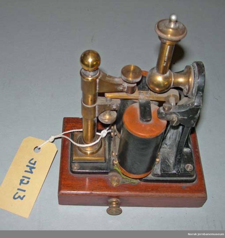 Lydapparat til morsetelegraf - til mottakelse av oppkalling på telegraflinje