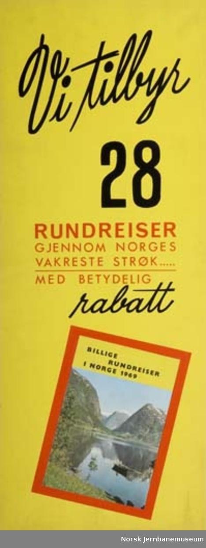 Reklamemateriell for NSB Reisebyrå