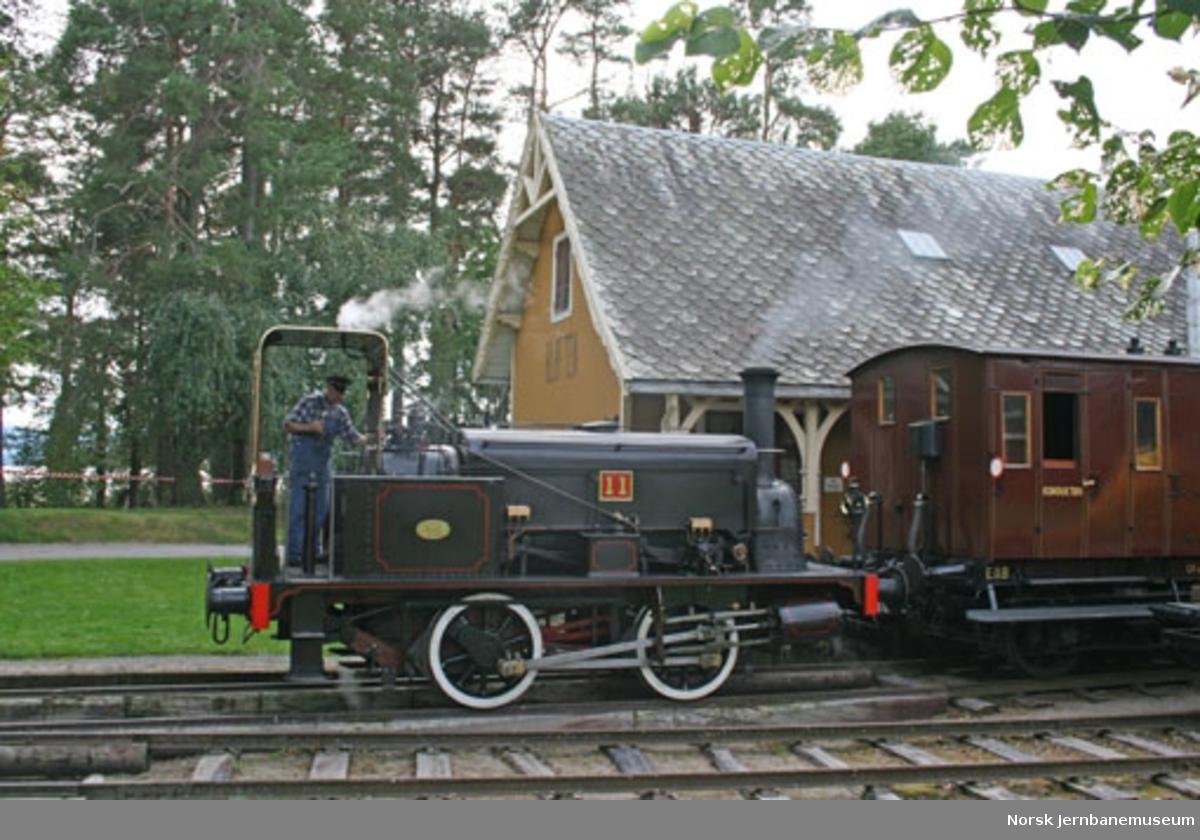 Damplokomotiv NSB type 7a nr. 11 - skiftelokomotiv