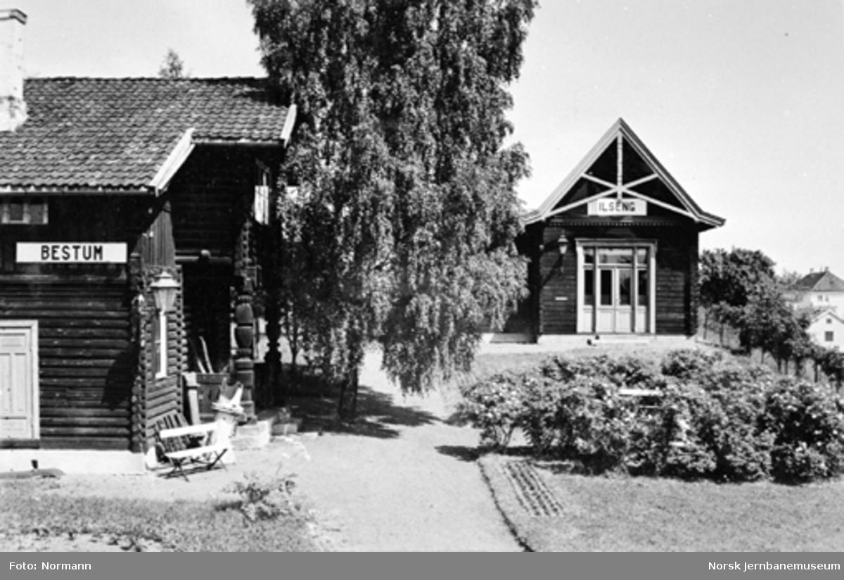 Jernbanemuseet på Disen : Bestum og Ilseng stasjonsbygninger
