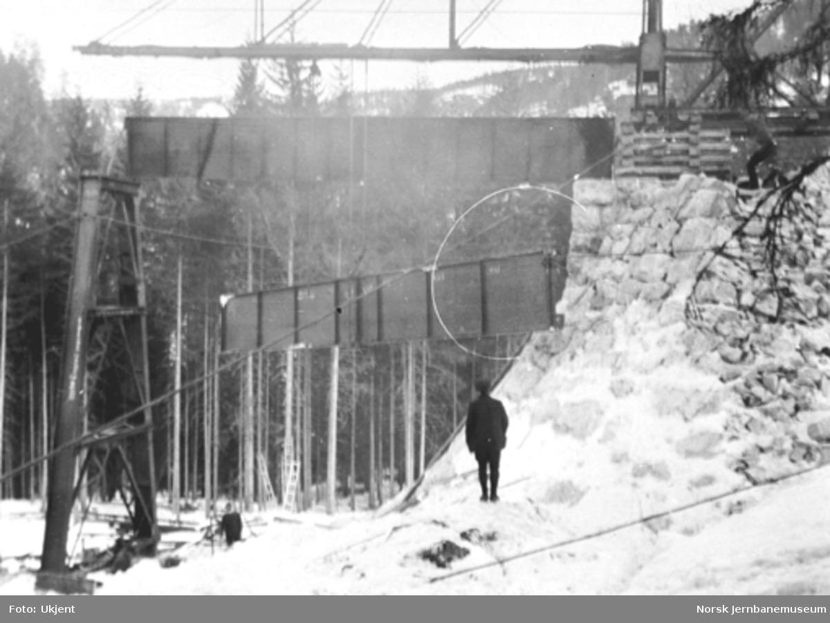 Tjerndalen viadukt; fra byggingen