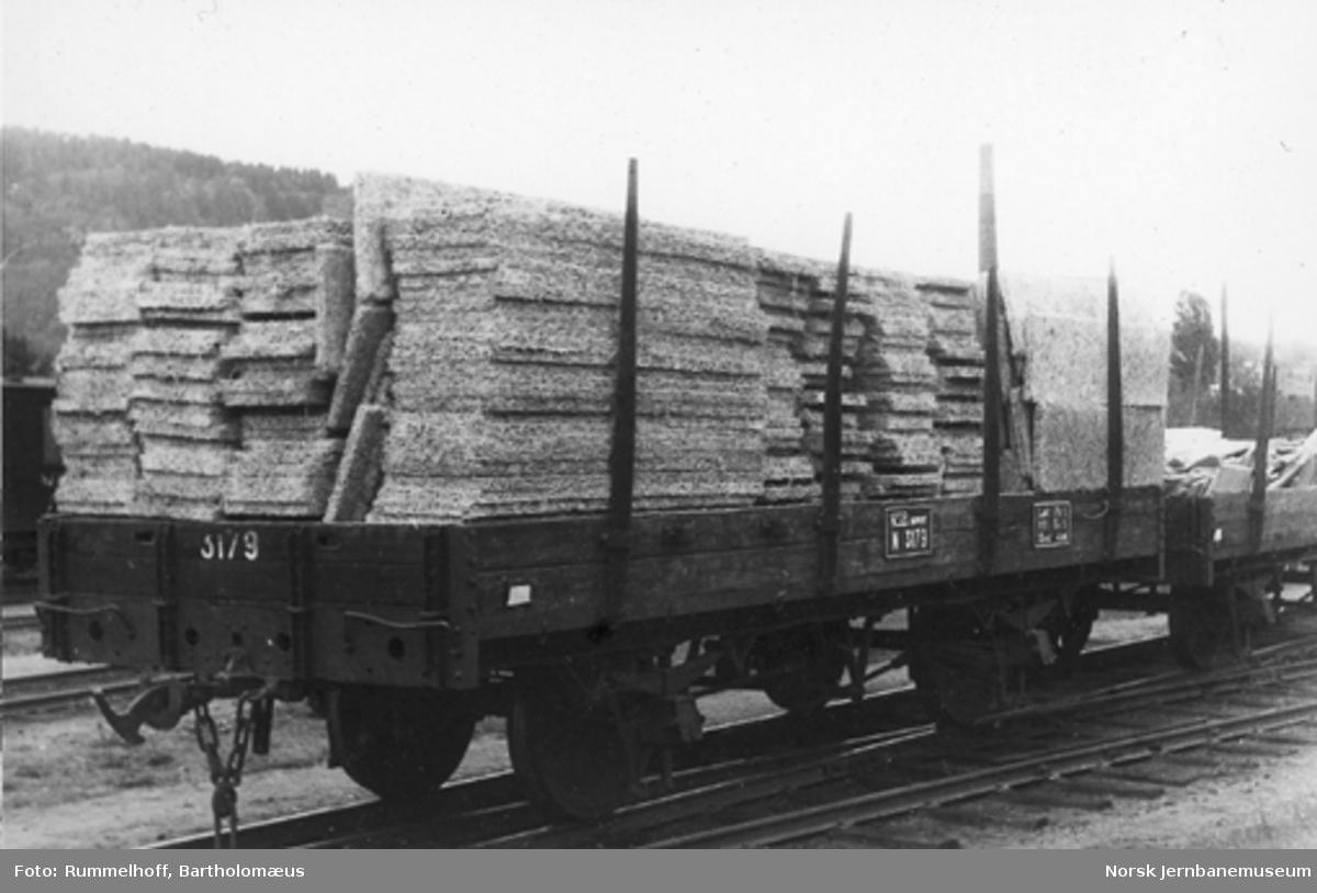 Smalsporet stakevogn fra Vestfoldbanen litra N nr. 3179