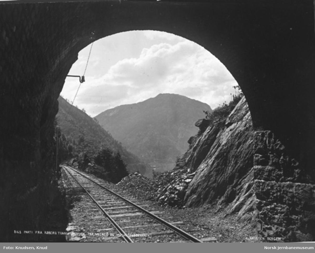 Utsyn fra Røberg tunnel mellom Trengereid og Vaksdal