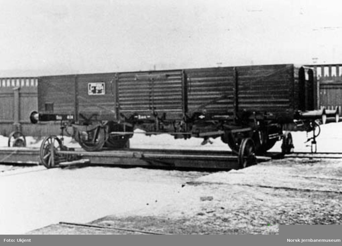 NSB kassevogn litra L4 nr. 4134 som ny på Skabo Jernbanevognfabrik
