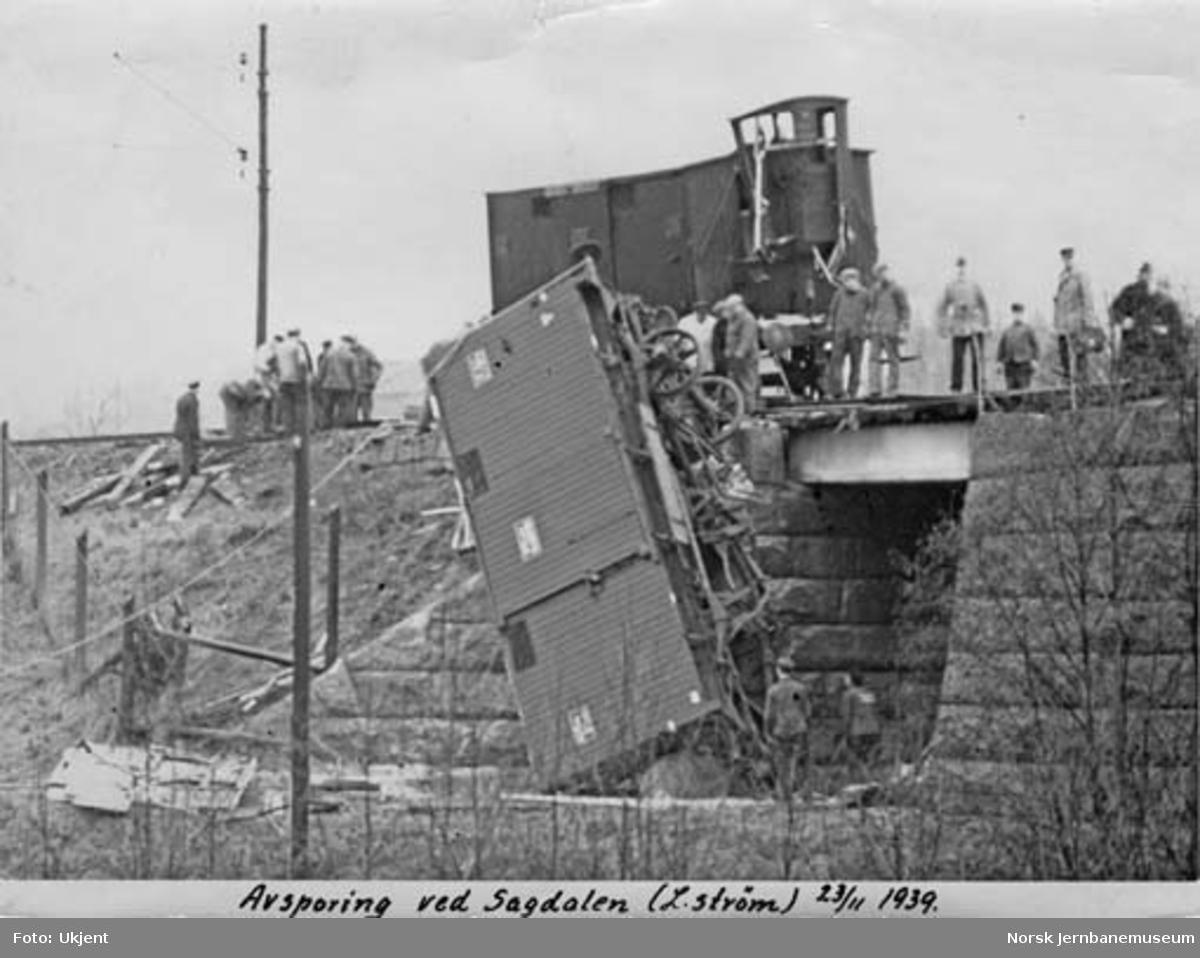 Avsporede godsvogner ved Sagdalen
