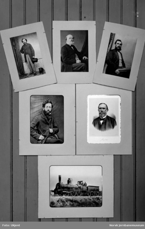 Jernbanemuseet på Hamar stasjon : Bilder av Hovedbanens ledelse og personale samt lokomotiv nr. 1