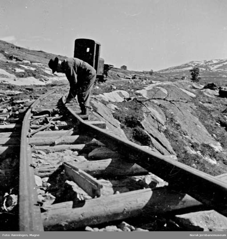 Anleggssporet ved Lønsdal med Nils Brandt
