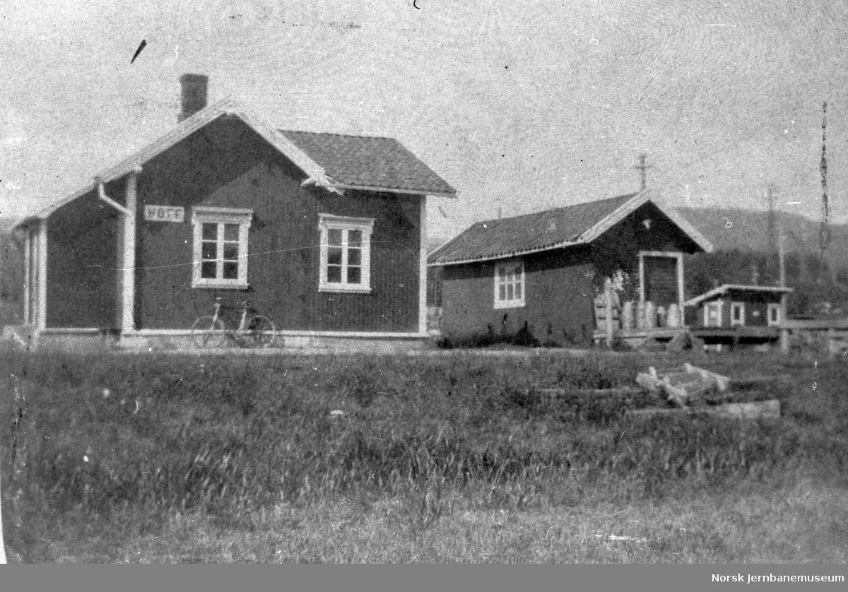 Hof stasjon på Tønsberg-Eidsfossbanen